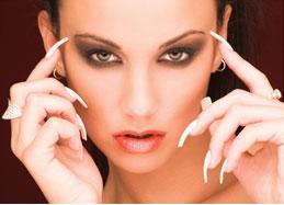 Nagelstudio Visitenkarten Flyer Für Kosmetikstudios